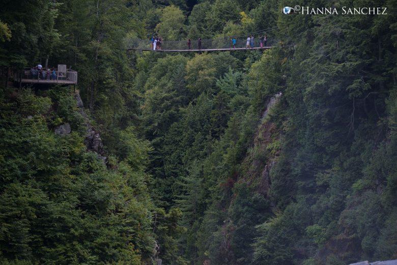 Canyon de Sainte-Anne parco naturale immerso nei boschi canadesi. Località sciistica vicina alla città di Quebec. Bellissimo posto!