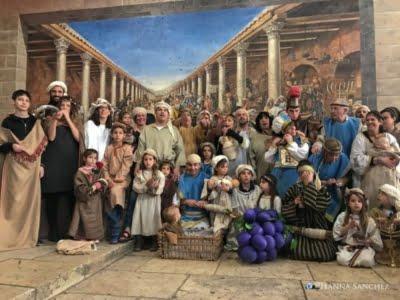 Gerusalemme - foto in veste storica di gruppo