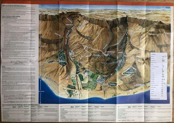 Carta geografica di Ein Gedi