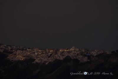 Vista di sera su Santorini