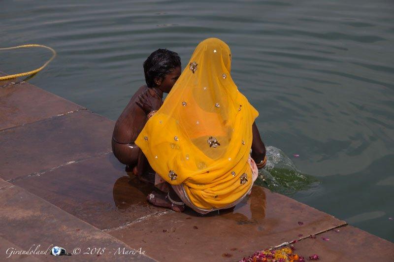 Bagno nel lago
